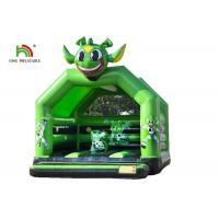 Green Commercial 2.1 Ft Astronaut Childrens Bouncy Castle / Inflatable Kids Jumping Castle Manufactures