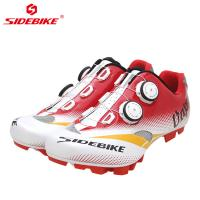 Men Mountain Cycling Shoes / MTB Bike Shoes SPD Mountain Bike Shoes With Atop Manufactures