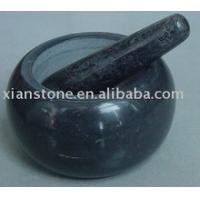 Black mortar and pestle Manufactures