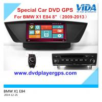 Car dvd for BMW X1 E84 (2009-2013) with 8 Inch Digital Screen 3D WIFI Android system UI Manufactures