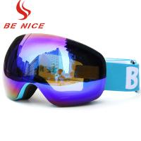 Pliable Material Night Snow Goggles Uv Protection For Outdoor / Skiing