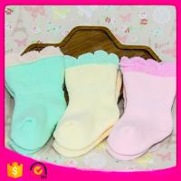 2017 Wholesale  Cotton95% Spandex5% 11*12cm 20g Pure Candy Color Cute Crew Thick Warm Toddler Baby Winter Children Socks Manufactures