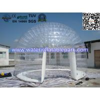 0.8mm Transparent PVC Inflatable Bubble Tent / Airtight Clear Dome Tent For Party Manufactures