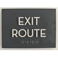"1/8"" Non Glare Acrylic Panel ADA Exit Sign Clear Grade II 1/32"" Raised Text Manufactures"