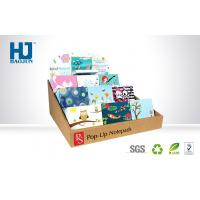 Light Weight Counter Display Boxes CMYK Offset Printing For Notebooks / Cards Manufactures