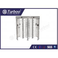 304 stainless steel dual lane full body turnstile gate with 120 degree revolving Manufactures