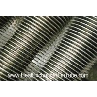 SS409/SS410 spiral finned tube , Heat Exchanger solid & serrated  fin Tubular