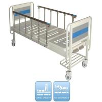 Two Functions Medical Manual Hospital Bed With Two Cranks And Over Bed Table Manufactures