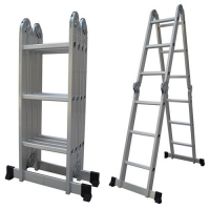 Silver 4x3 12.14ft Folding Scaffold Platform Ladder Manufactures