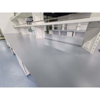 Grey color epoxy resin worktops resist corrosion for laboratory furniture Manufactures