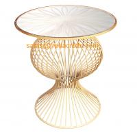 """""""S"""" Style Round Mirror Top Metal Base with Hand foil Finish Coffee Table in Wholesale Manufactures"""