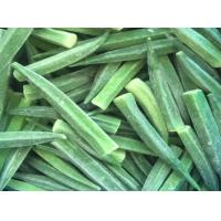 High Grade IQF Frozen Food , Whole / Cut Shape Individually Quick Frozen Okra Manufactures