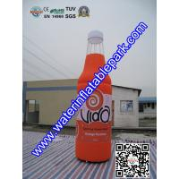 PVC Custom Inflatable Advertising Bottle , 5M Inflatable Bottle Model  For Promotion Manufactures