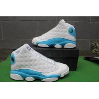 Cheap Cheap price Nike Air Jordan 13 shoes in white blue basketball shoes men's sneakers for sale