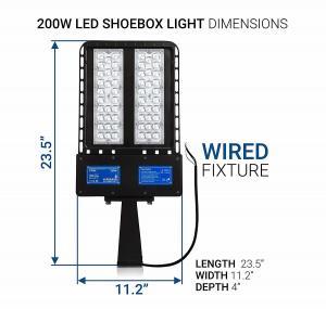 Outdoor 100W LED Shoebox Light , Warm White Led Parking Lot Flood Lights 130 Lm/W Manufactures