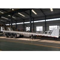 Mn Steel 3 Axles Container Semi Truck Flatbed Trailer Carrying Heavy Goods Manufactures