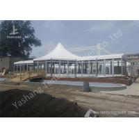 Custom Outdoor Tents For Events , Event Canopy Tent A Frame Combined With High Peak Shape Manufactures
