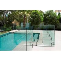 AS2208 Standard Swimming Pool Glass Fencing , Glass Panel Garden Fencing Safety Manufactures