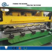 Green Color Metal Steel Roof Tile Roll Forming Machine Hydraulic Cr12 Cutting Blades Manufactures