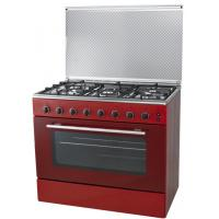 Cheap 5 Burners Stove Range W/ Oven (DHKC300B-5B) Free-Standing Gas Range Stainless Steel 90*60cm, 5 Burners for sale