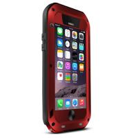 Cheap Red protective waterproof Aluminum metal cell phone cases covers for iPhone 6 for sale