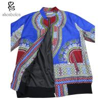 Cheap Dashiki Lined Mens African Styles Attire Tops , African Print Jackets For Men for sale