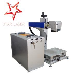 Blue 10W Fiber Laser Marking Machine, Pipe Laser Marking Engraving Machine Manufactures