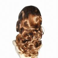 Celebrity Full Lace Wig, Comes in Gold, with Tight Wavy Top Manufactures