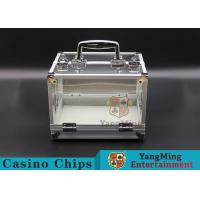600PCS Double Open Handle Texas Chip Box / Aluminum Alloy Frame High Transparency Chess Room Manufactures