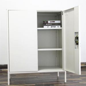Stylish Square Storage KD 800mm Steel Bedside Cabinet Manufactures