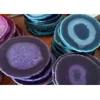 CE Certificated Natural Stone Crafts Agate Stone Slice Tea Coasters Manufactures