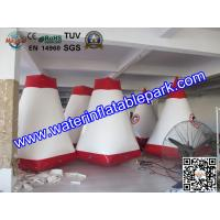 Red and White Inflatable Paintball Air Bunkers Custom Made , 3 Years Warranty Manufactures