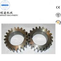 Black Finished Carton Steel Metal Spur Gear For Equipment ISO9000 Manufactures