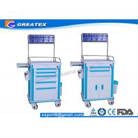 Hospital Emergency Crash Cart ABS Emergency Anesthesia Trolley Cart Manufactures