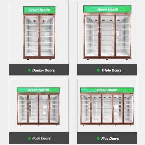 R134 Upright Supermarket Commercial Glass Door Refrigerator Manufactures