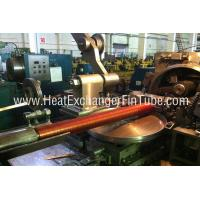 Cheap Helicoidal Groove Cooling Embedded Fin Tube Machine , G Type Alu & Copper for sale