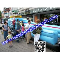 2 Lane Inflatable Bungee Run / Inflatable Sport Games Bungee Run For Children Manufactures