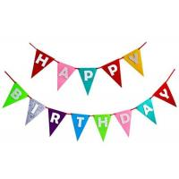 Decorative Pennant String Flags Eco - Friendly Birthday Theme Colorful For Party Manufactures