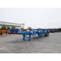Buy cheap Large Capacity Flatbed Container Trailer Detachable High Strength Chassis from wholesalers