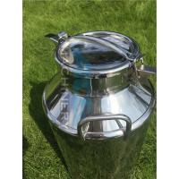 Two Handles A Grade Safety SGS Certification Tin Milk Can Stainless Steel Milk Can for Sale Milk Bucket Manufactures