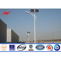 Energy saving 10m Residential Outdoor Light Poles Single - Arm Anti Corrosion
