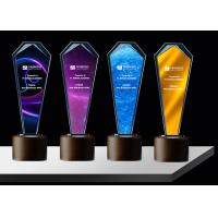 Buy cheap Blue K9 Crystal Trophy Cup With Custom Sandblasting Or Lasering Logo And Texts from wholesalers