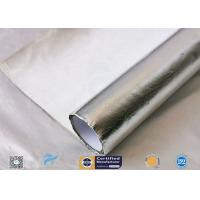 Waterproof 880g Light Reflect Silver Coated Fabric High Temperature Adhesive Manufactures
