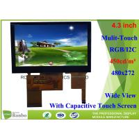 Buy cheap High Brightness 4.3 inch Touch Screen LCD Display bonding 480x272 Color LCD from wholesalers