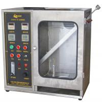 Textile Burning Behavior Testing Equipment / 45 Degrees Damaged Area and Ignition Times Test Machine Manufactures