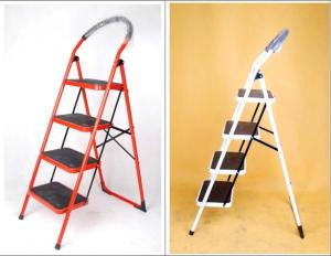 Stainless Steel Anti Slip 3 Step Telescopic A Frame Step Ladder Manufactures