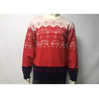 Round Neck Cool Men Knitted Ugly Christmas Sweater Dress , Ugly Christmas Pullover