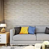 3D Brick Effect Contemporary Style Vinyl Wall Covering 0.53*10M Manufactures