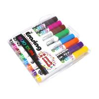 Assorted Colored Dry Erase Board Markers Low Odor Comfortable Grip Manufactures