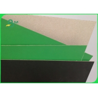 900gsm 1200gsm Bookbinding Board with 1 Side Black / Green Hard Stiffness Manufactures
